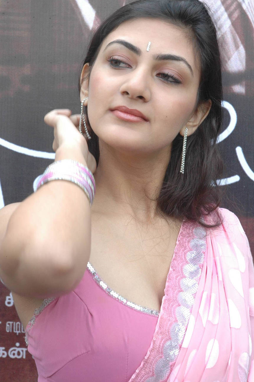 Tamil Actress Neelam In Hot Pink Saree Blouse Photos -9157