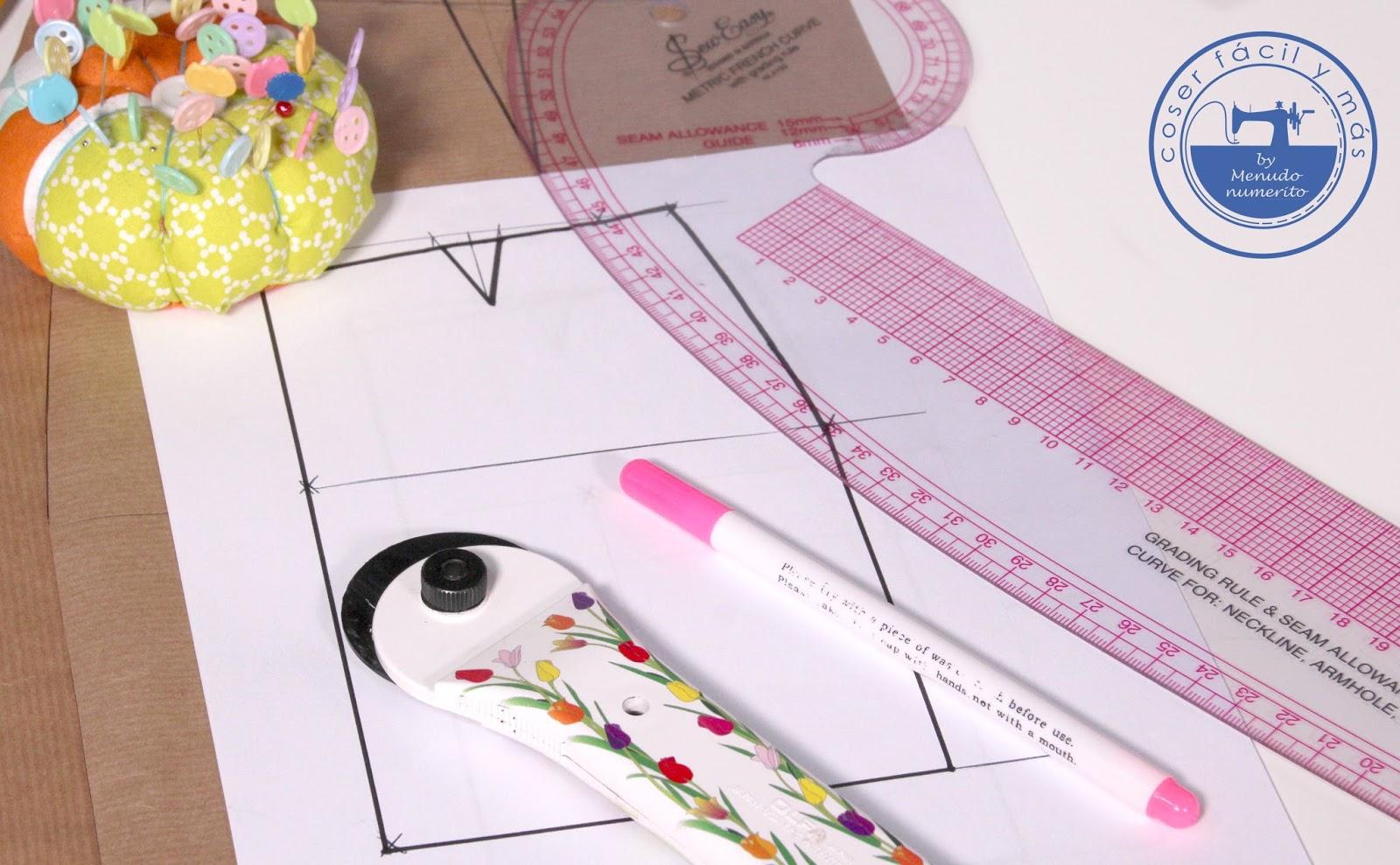 0aef6f5866 Serie faldas I  Cómo trazar el patrón base fácilmente - El blog de ...