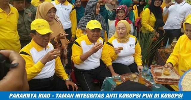 PARAH !! Di Provinsi Riau Taman Simbol Anti Korupsi Pun Di Korupsi