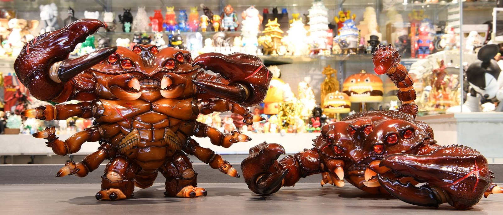 """Introducing the """"Red Claw Emperor"""" Edition Scorpion Kaiju from JUBI ..."""