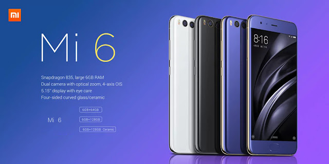 Coupon Xiaomi Mi 6 6GB RAM 128GB ROM