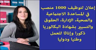 الترشيح إلى غاية أبريل.. إعلان مفتوح لتوظيف 1000 منصب في المساعدة الاجتماعية والصحية، الإدارة، الحقوق والتسيير