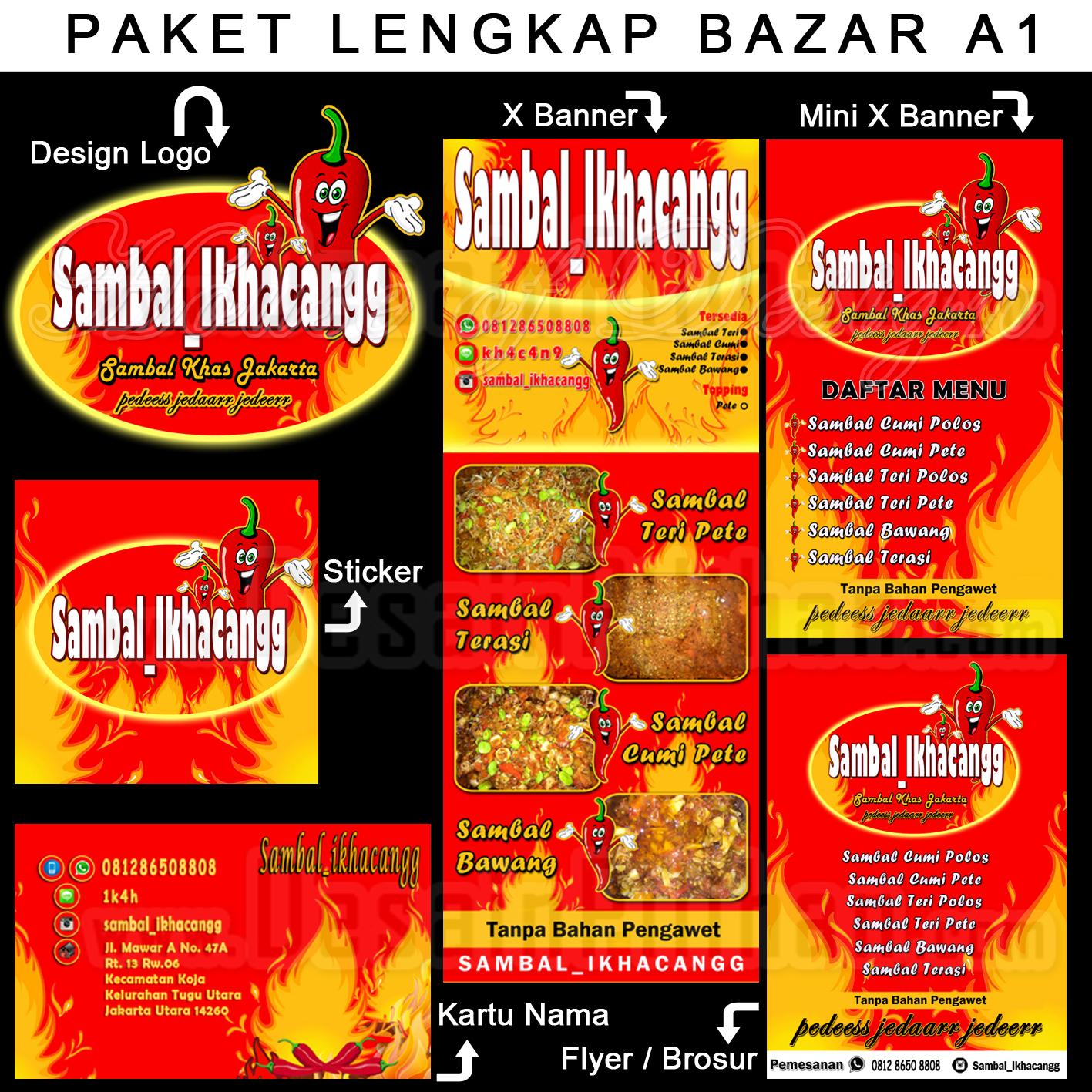 jual paket lengkap desain pendukung bazar berkualitas murah harga terjangkau