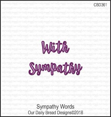 ODBD Custom Dies: Sympathy Words