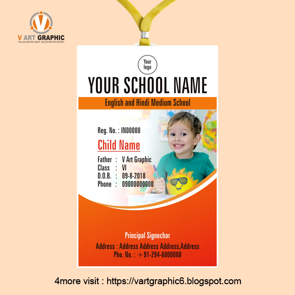 new student id card design template freelance graphic design