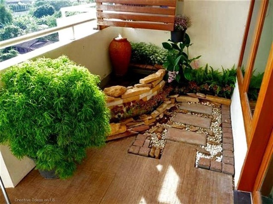Dep sito santa mariah ideias para varanda pequena de for Home garden design bangalore