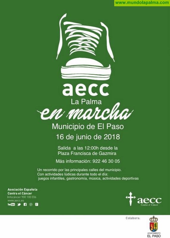 """La Asociación Española Contra el Cáncer (AECC) en La Palma """"en Marcha 2018"""" en El Paso"""