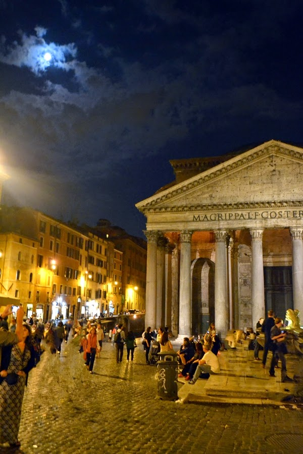 Pantheon at Night in Rome