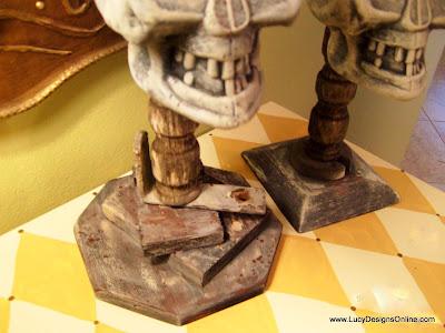Halloween skull candles