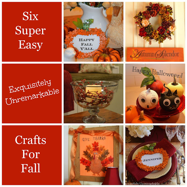 Super Easy Crafts For Fall text over collage