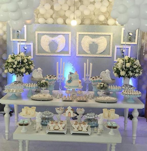 Ngeles para decorar la mesa de dulces de bautizo - Como decorar un salon para bautizo ...