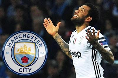 Dani Alves Tanda Tangan Kontrak 2 Tahun Bersama Manchester City...??