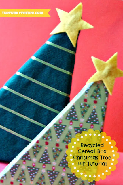 Recycled Cereal Box Christmas Trees Tutorial