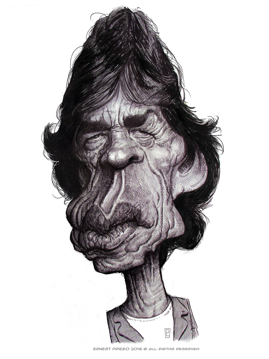 Mick Jagger por Ernesto Priego