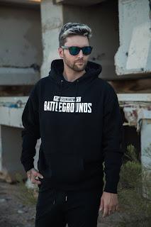 Baju Jaket Hoodie Gaming Jumper PUBG PLAYERUNKNOWN'S BATTLEGROUNDS Black