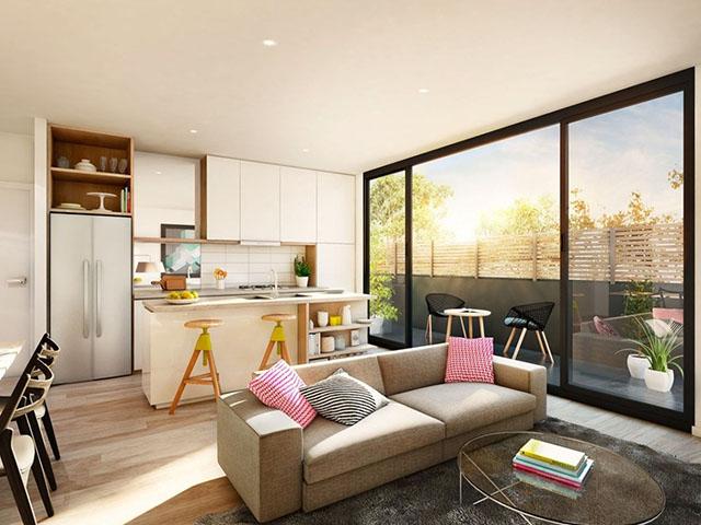 phòng khách và phòng bếp đẹp