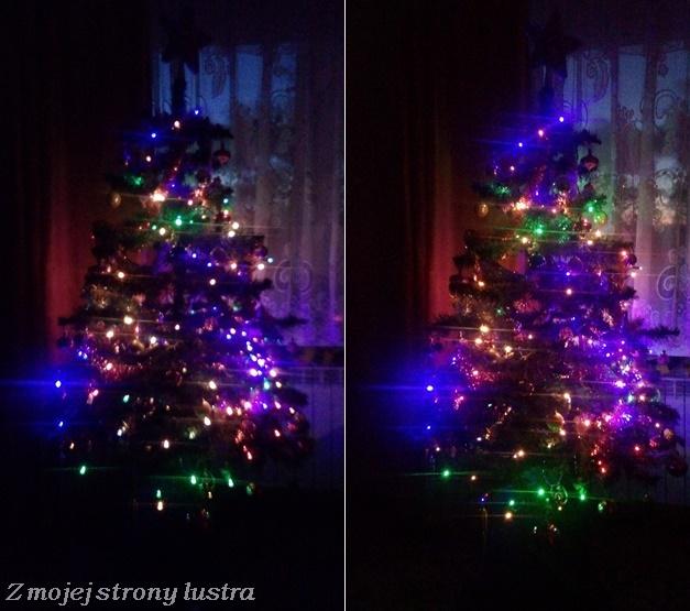 choinka lampki ozdoby światełka