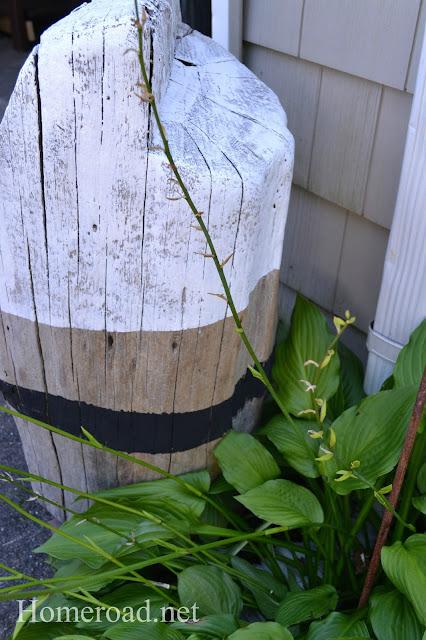 Nautical stump in the garden