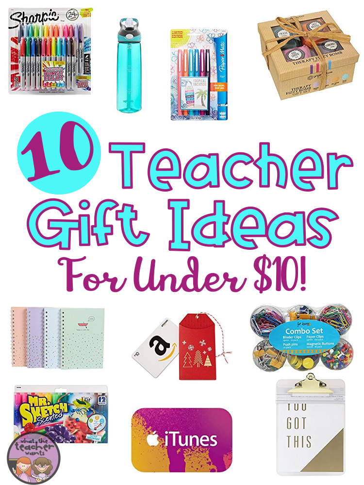 (Please note, this post contains affiliate links.) - What The Teacher Wants!: 10 Teacher Gift Ideas For Under $10