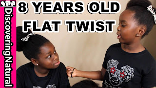 8 YEARS OLD TEACHES HOW TO FLAT TWIST NATURAL HAIR DiscoveringNatural