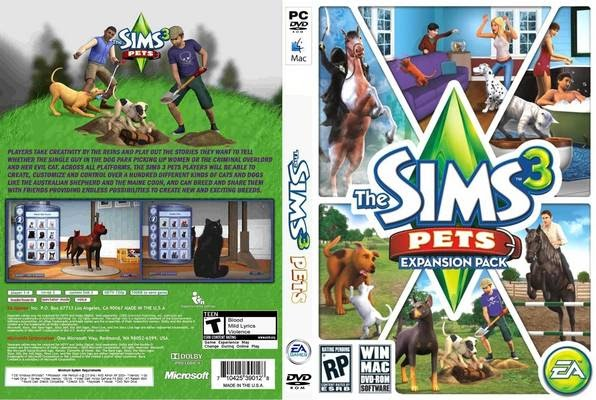 pc games cd cover the sims 3 pets