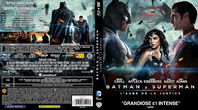 Capa Bluray Batman V Superman L'aube De La Justice (Batman Vs Superman - A Origem da Justiça)