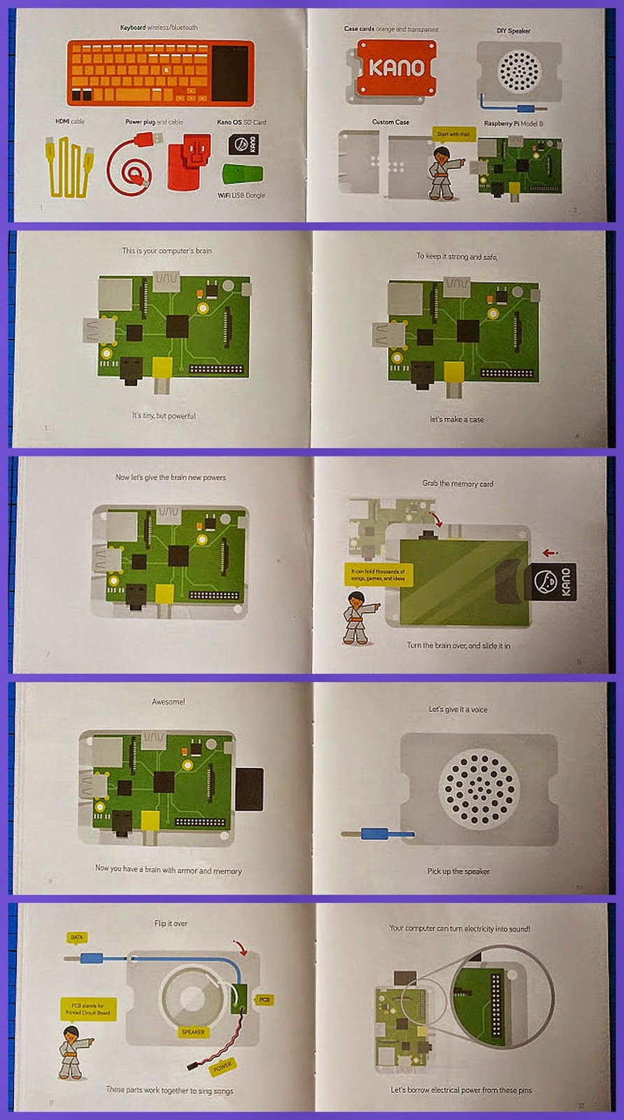 The Kano Computer Kit review - make a computer booklet inside pages