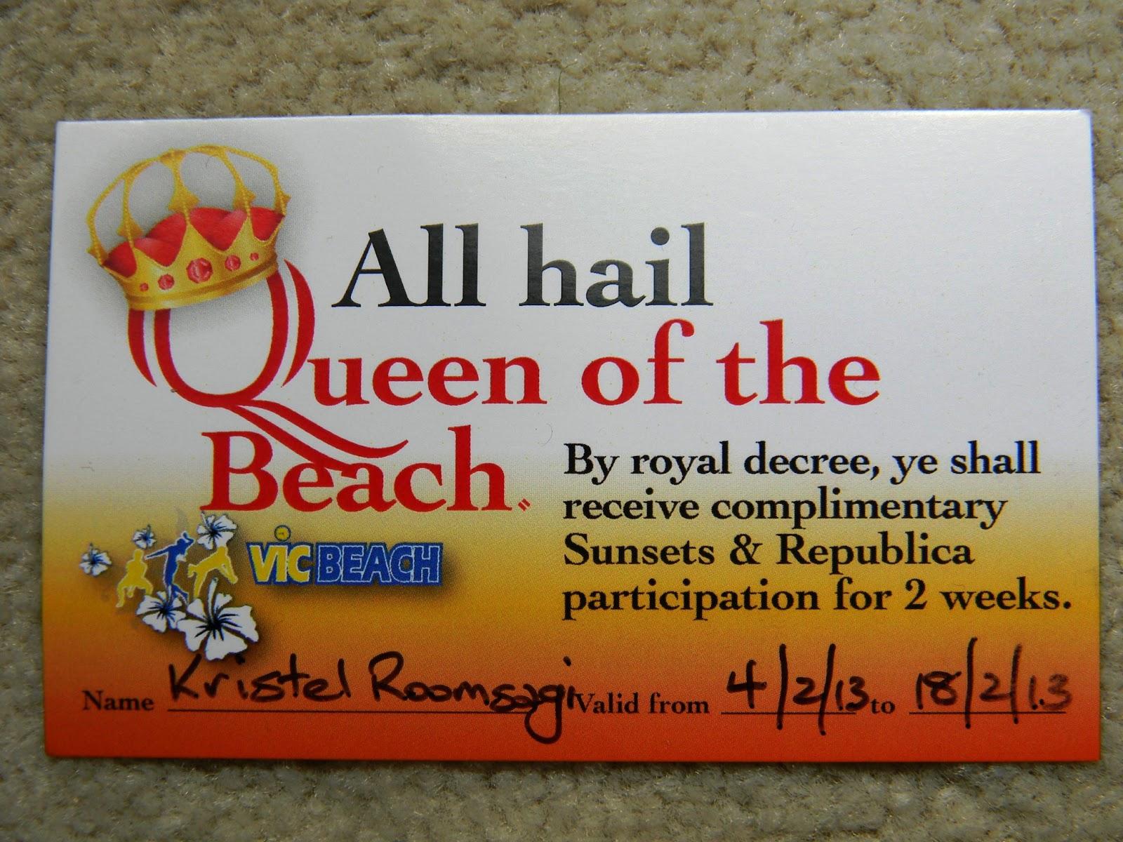 fe39564b2e7 Selle nädala parim saavutus - Queen of the Beach.