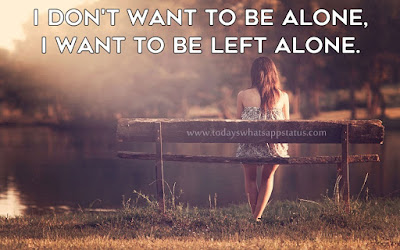 100 Being Alone Status in English | Feel So Lonely Quotes