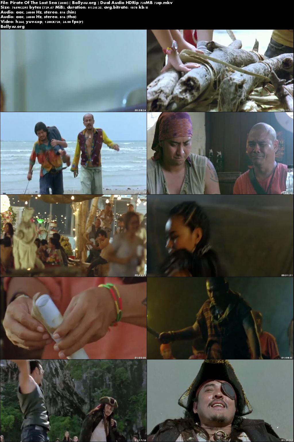 Pirate Of The Lost Sea 2008 HDRip 700MB Hindi Dual Audio 720p Download