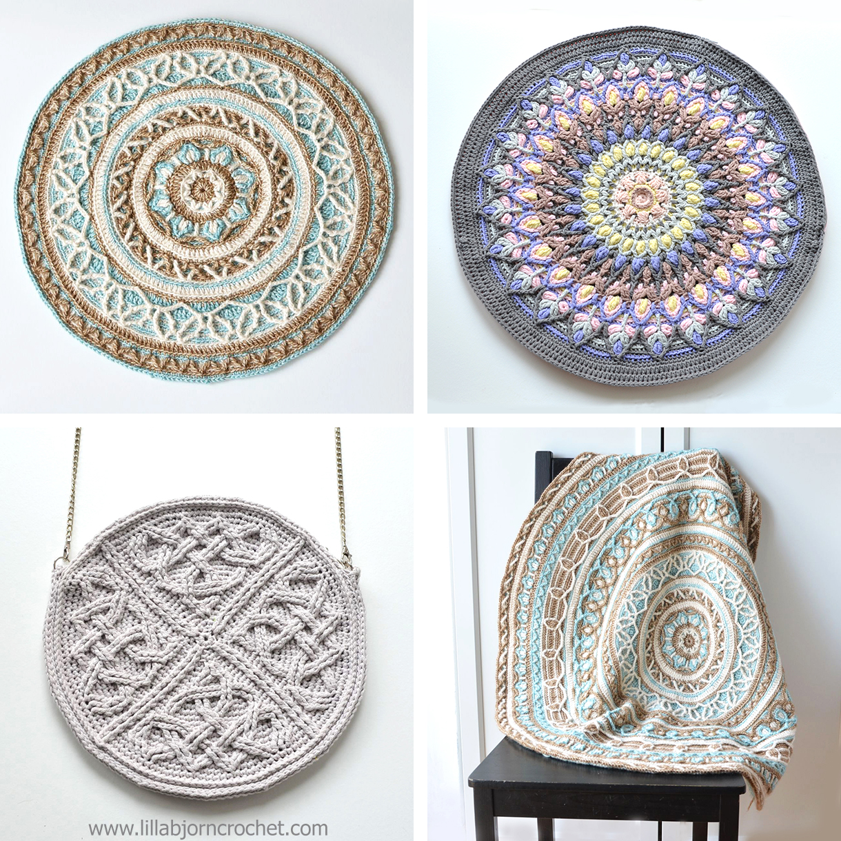 Overlay crochet mandala patterns by Lilla Bjorn