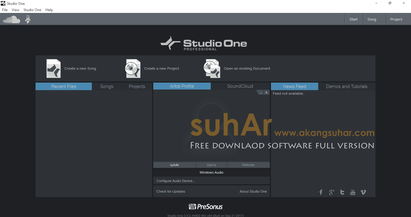 Free download software Studio One 3 Professional 3 Full latest version terbaru gratis serial number patch keygen crack license file serial number activation www.akangsuhar.com