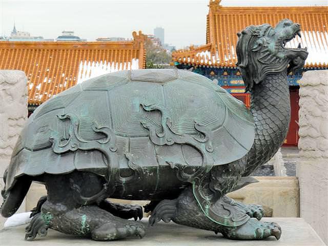 Wächterdrache im Kaiserpalast Peking (C) JUREBU