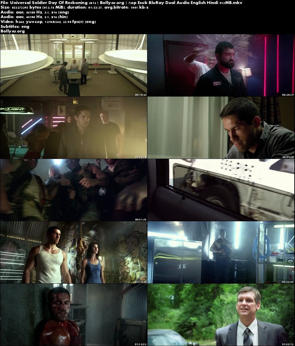 Universal Soldier Day Of Reckoning 2012 BRRip 350MB Hindi Dual Audio 480p Download