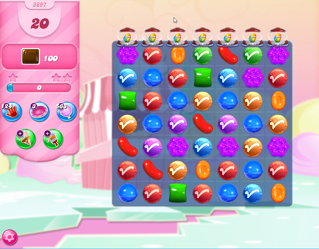 Candy Crush Saga level 3697