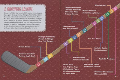 hockey league infographic illustration