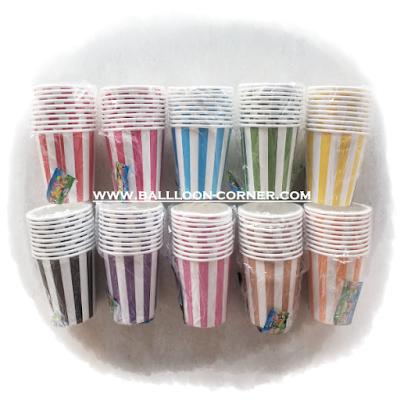 Gelas Kertas / Paper Cup Motif Garis