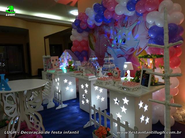 Festa temática infantil da Gata Marie em mesa provençal