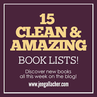 Book suggestions for those who like clean reading and are looking for some great period piece, fantasy, fairy tale, and awesome books from www.jengallacher.com. #booklist #jengallacher #cleanread