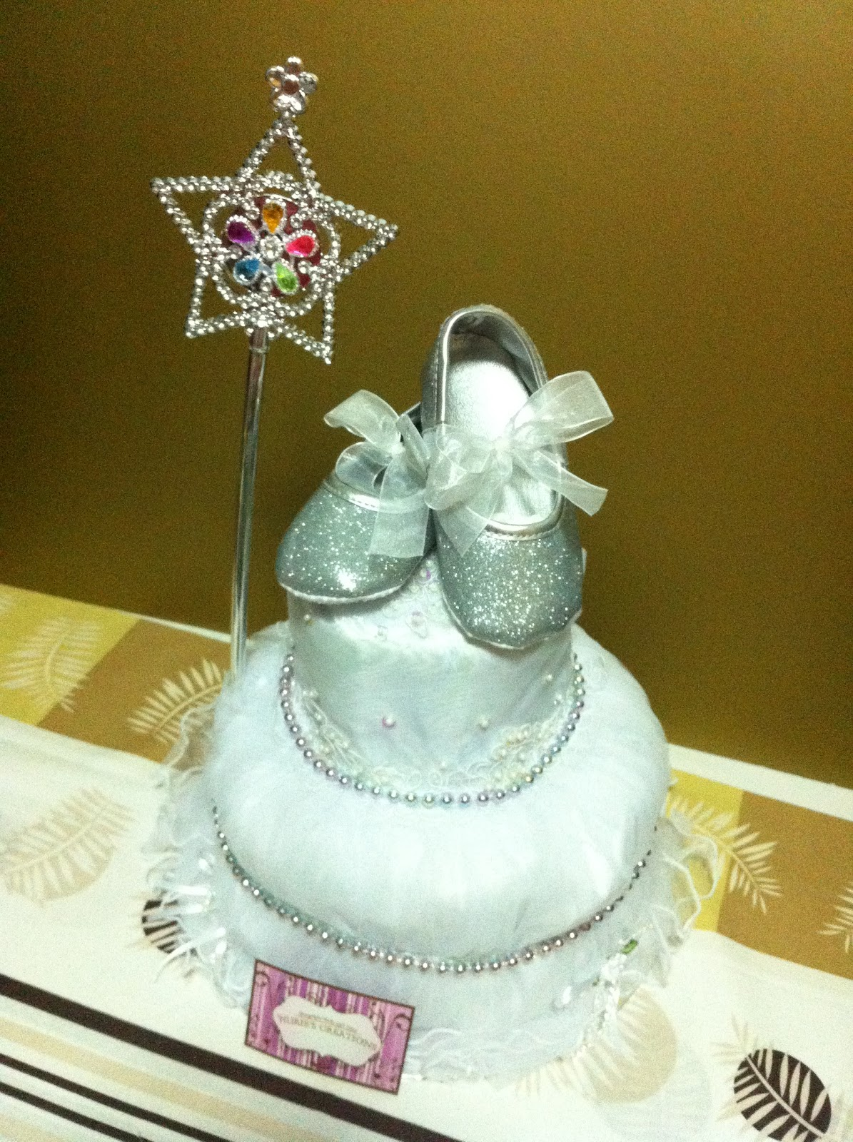 Nurie S Creations Diaper Cakes Amp Baby Gifts 2 Tiers