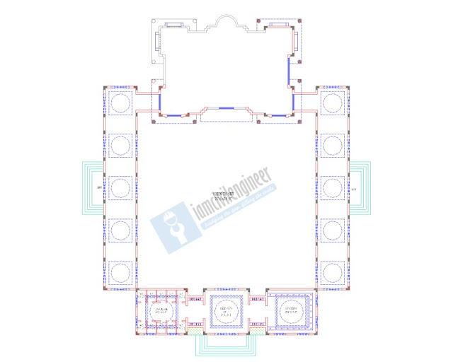 Mosque Architectural Plans AutoCAD dwg
