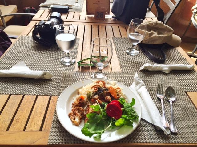 Petra Jordan lost city lunch
