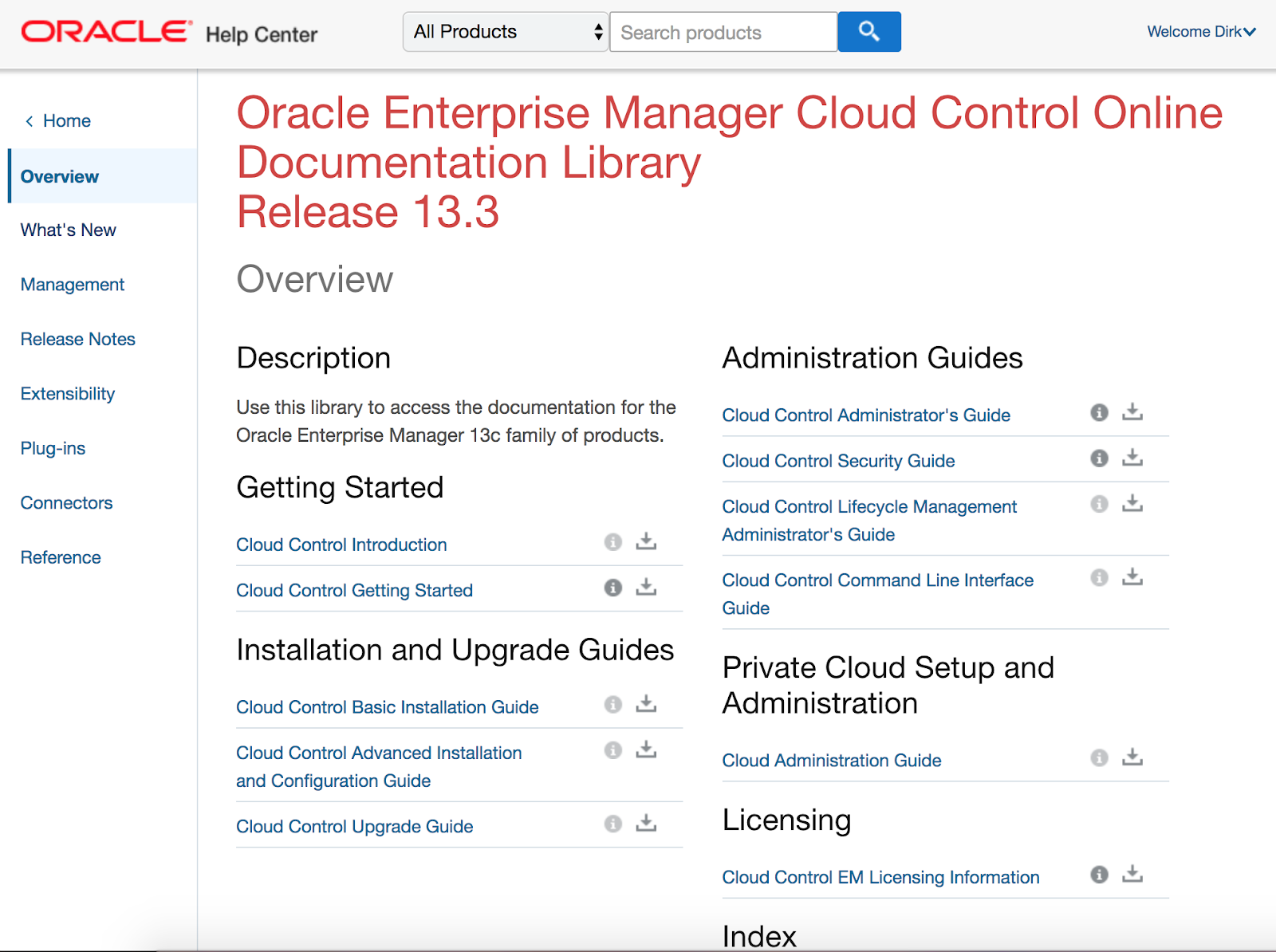 Documentation for Oracle Enterprise Manager 13c Release 3