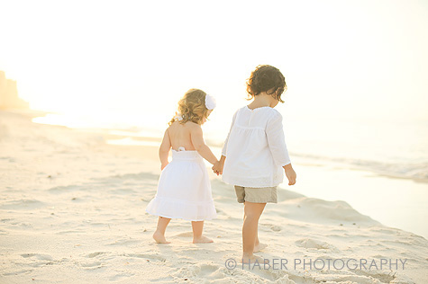 Kids in White Photo Session on the Beach