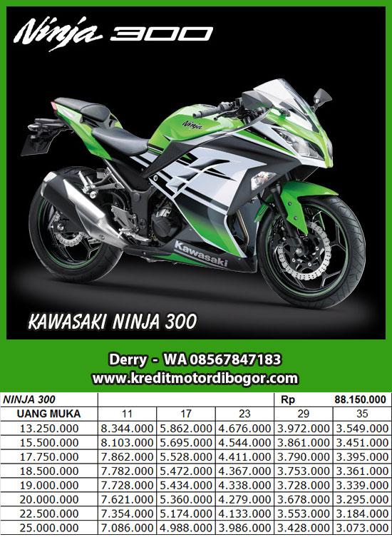Daftar Harga Kredit Motor Kawasaki Ninja 300 di Bogor