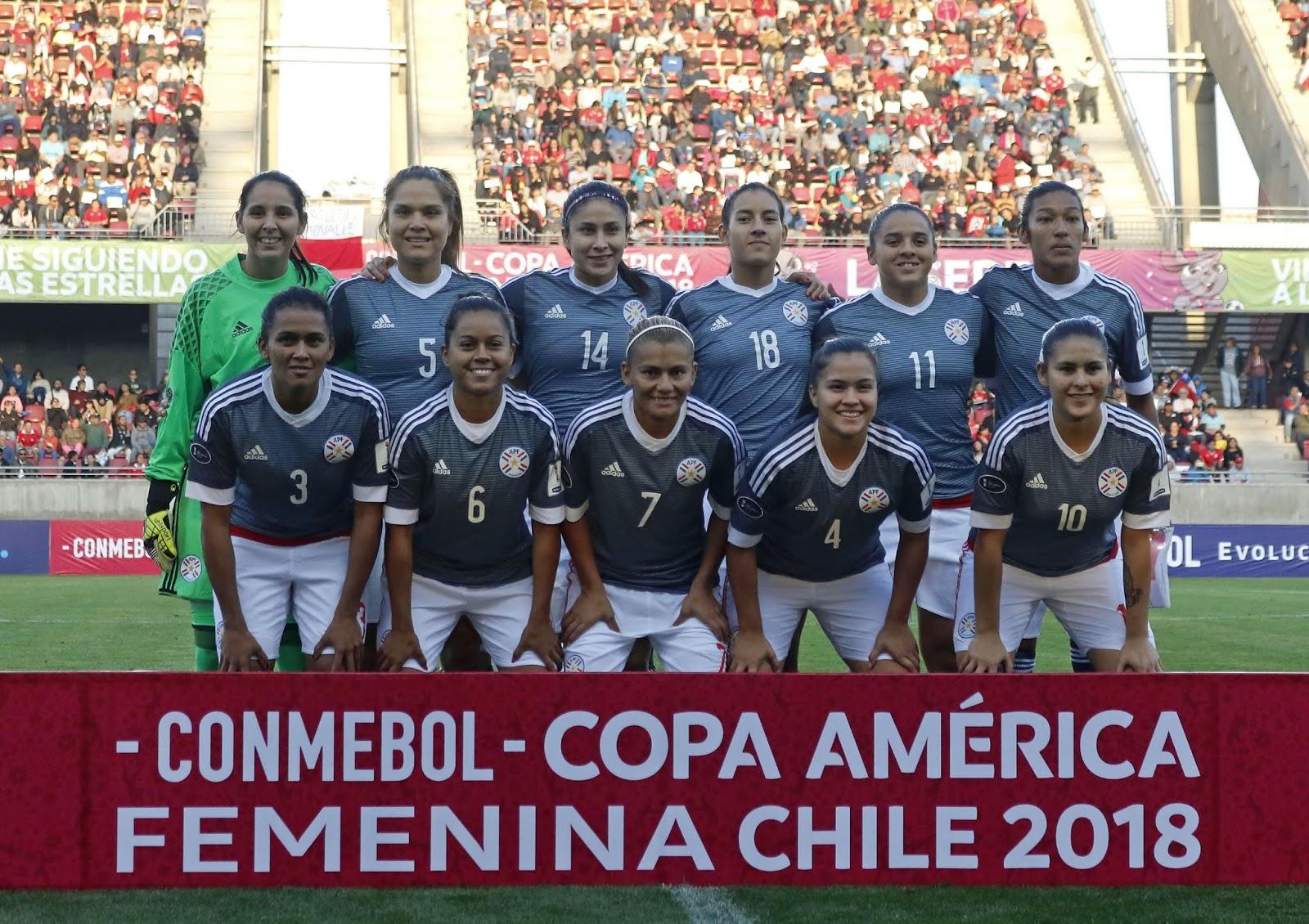 Formación de selección de Paraguay ante Chile, Copa América Femenina 2018, 4 de abril