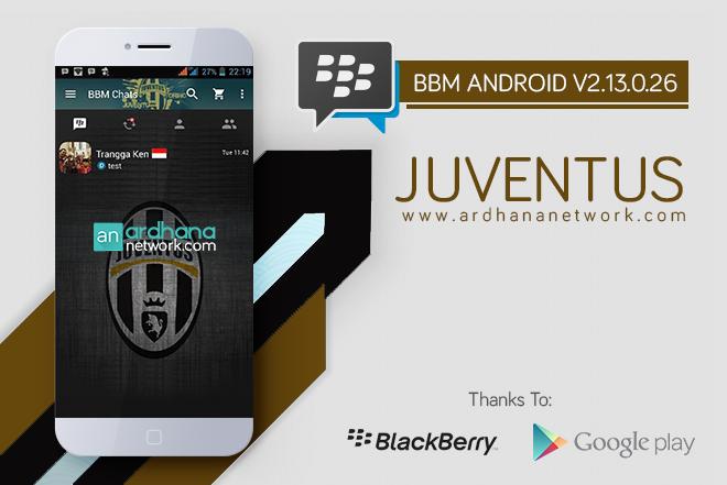 BBM Juventus V2.13.0.26 - BBM MOD Android Tema Sepakbola