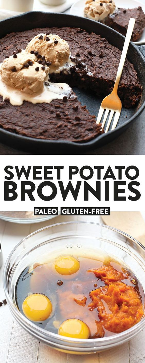 SKILLET SWEET POTATO BROWNIES