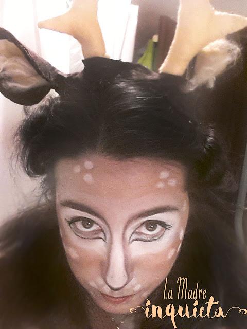 Diadema con cuernos de ciervo hecha en hora y media