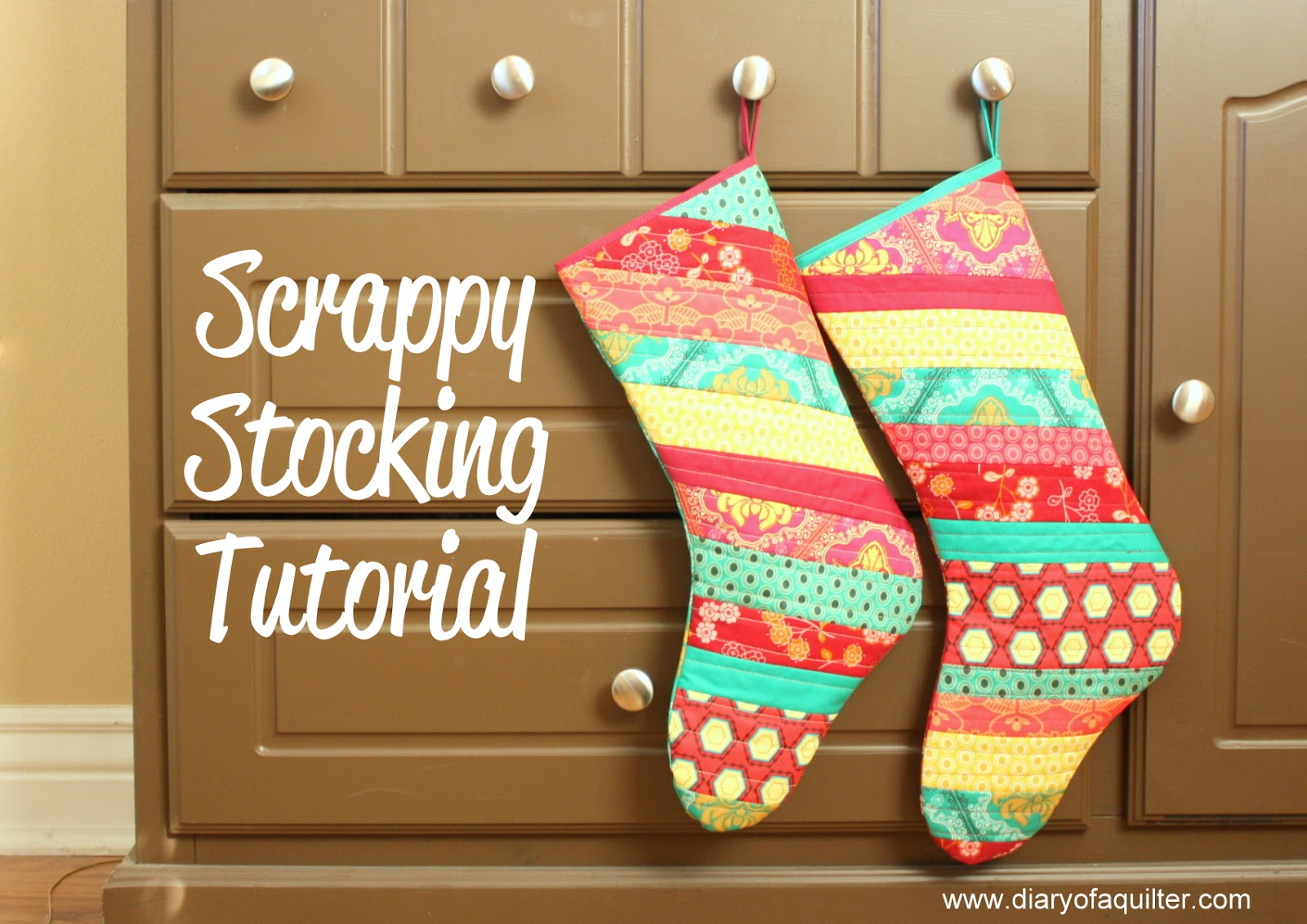 Making Christmas Stocking.Fat Quarter Gang Scrappy Christmas Stockings By Diary Of A